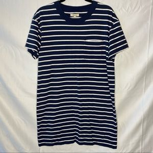 Madewell Striped Casual T-Shirt Dress